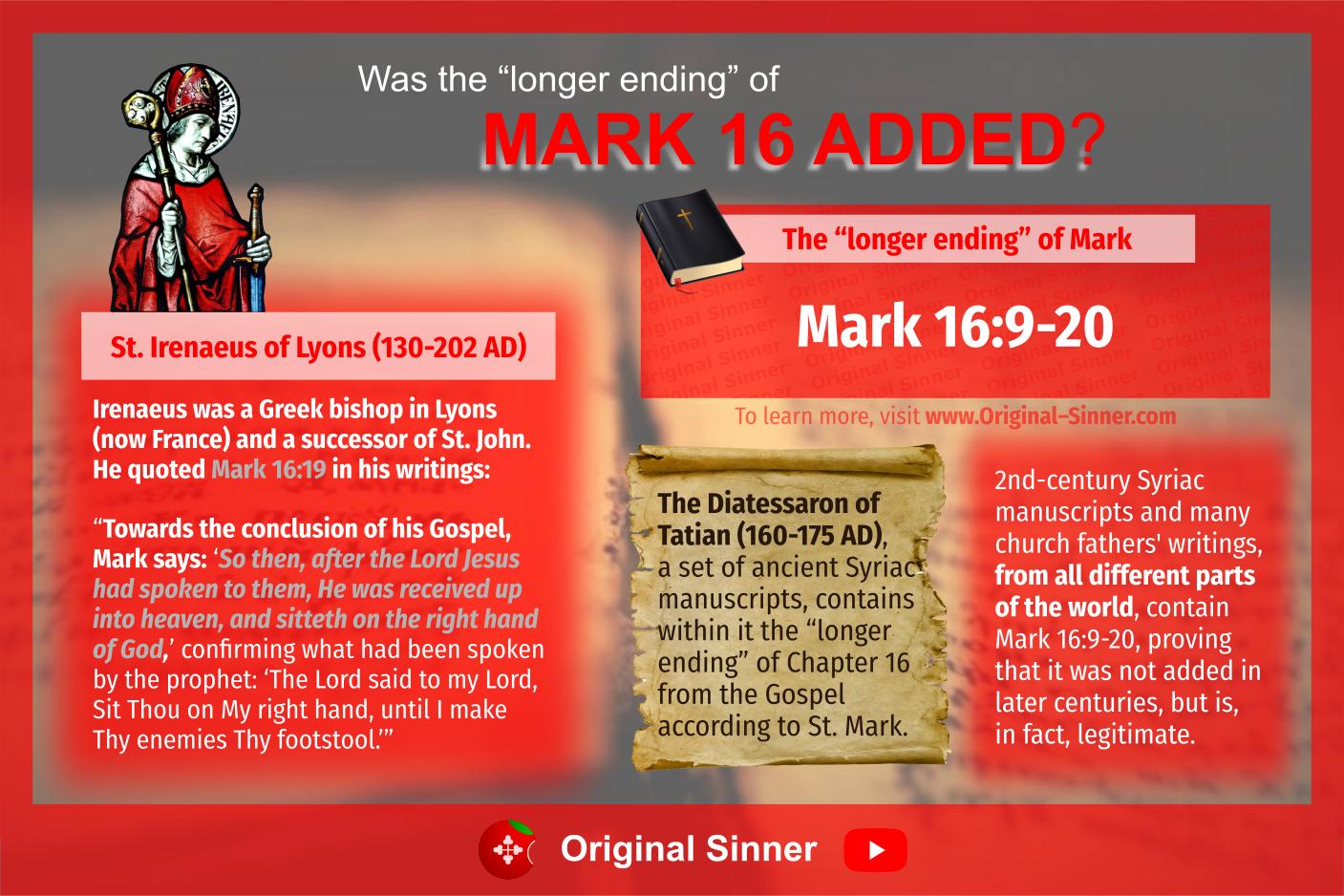 """Was the """"longer ending"""" of Mark 16 added?"""